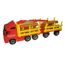 Wader Camion transport busteni cu remorca (8725)