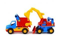 Wader Camion cu basculanta si excavator (0452)