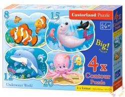 Castorland Víz alatti világ 4 az 1-ben puzzle (B-043026)
