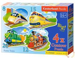 Castorland Vicces vonatok 4 az 1-ben puzzle (B-043033)