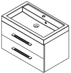 SAPHO Marioka II 80 mosdó tartó szekrény