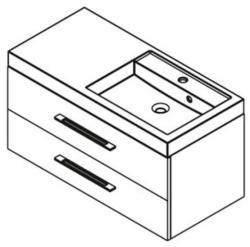 SAPHO Marioka II 100 mosdó tartó szekrény
