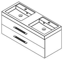 SAPHO Marioka II 120 mosdó tartó szekrény