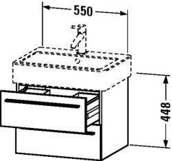 Duravit X-Large Mosdó szekrény 55 6044