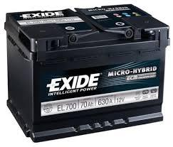 Exide EL700 ECM 70AH 720A
