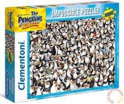 Clementoni A lehetetlen puzzle - A Madagaszkár pingvinjei 1000 db-os (39362)
