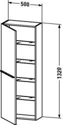 Duravit X-Large magas szekrény 50 1137