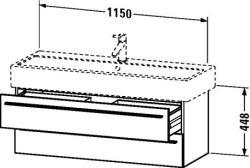 Duravit X-Large mosdó szekrény 115 6047