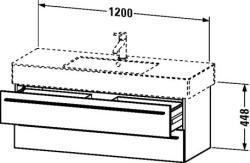 Duravit X-Large mosdó szekrény 120 6054