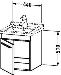 Duravit X-Large mosdó szekrény 44 6525