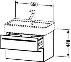 Duravit X-Large mosdó szekrény 65 6042