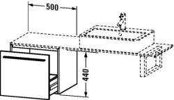 Duravit X-Large mosdó szekrény 50 6533