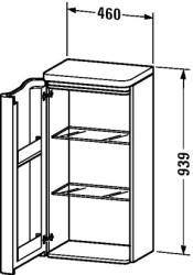 Duravit PuraVida félmagas szekrény 9205