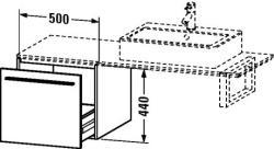 Duravit X-Large mosdó szekrény 50 6733