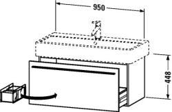 Duravit X-Large mosdó szekrény 95 cm széles XL 6046