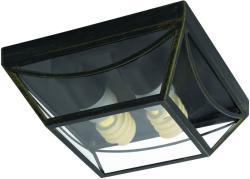 Massive - Philips Babylon kültéri fali lámpa, csiszolt fekete 15429/42/10