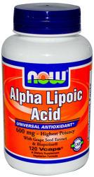 NOW Alpha Lipoic Acid (600mg) kapszula - 120 db