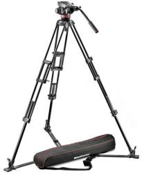 Manfrotto 546BK-1 with MVH502A Head - Professional fluid video system alu mid spreader