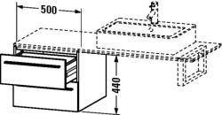 Duravit X-Large mosdó szekrény 50 6723