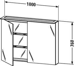 Duravit X-Large tükrös szekrény 100 7595