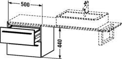 Duravit X-Large mosdó szekrény 50 6523