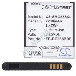 Utángyártott Samsung LI-ION 2500 mAh EB-BG388BB