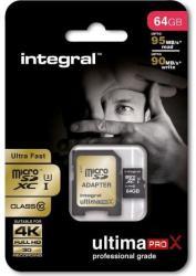 Integral MicroSDXC Ultima Pro 64GB Class 10 INMSDX64G10-95/60U1