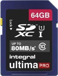 Integral MicroSDXC Ultima Pro 64GB Class 10 INMSDX64G10-80U1