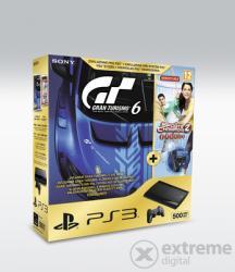 Sony PlayStation 3 Super Slim 500GB Move (PS3 Super Slim 500GB Move) + Gran Turismo 6 Anniversary Edition + Sports Champions 2