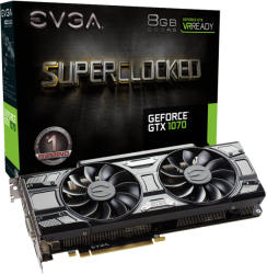 EVGA GeForce GTX 1070 SC GAMING ACX 3.0 Black Edition 8GB GDDR5 256bit PCI-E (08G-P4-5173-KR)