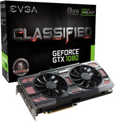 EVGA GeForce GTX 1080 CLASSIFIED GAMING ACX 3.0 8GB GDDRX5 256bit PCI-E (08G-P4-6386-KR)
