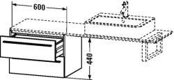 Duravit X-Large mosdó szekrény 60 6524