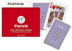Piatnik 100% Plasztik pókerkártya 2*55 lap