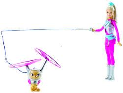 Mattel Barbie - Csillagok között - Űr Barbie lebegő cicussal (DWD24)