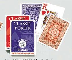 Piatnik 100% Plasztik nagy indexes pókerkártya 1*55 lap