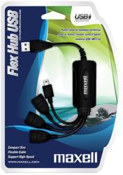 Maxell FLEX USB2.0, 3 port & mini USB (ML-USB-HUB-FLEX)