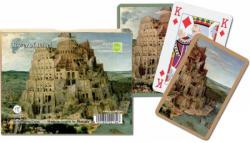 Piatnik Bruegel - Bábel tornya 2*55 lapos römikártya