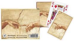 Piatnik Michelangelo - Ádám teremtése 2*55 lapos luxus römikártya