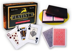 Modiano Cards Platinum Acetate Jumbo indexes (dupla pakli)