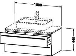 Duravit X-Large mosdó szekrény 100 6716