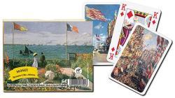 Piatnik Monet festményei 2*55 lapos luxus römikártya