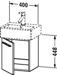 Duravit X-Large mosdó szekrény 40 6209