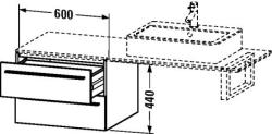 Duravit X-Large mosdó szekrény 60 6724
