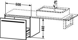 Duravit X-Large mosdó szekrény 60 6734