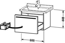 Duravit X-Large mosdó szekrény 60 6056