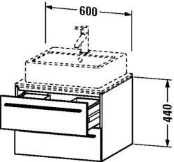Duravit X-Large mosdó szekrény 60 6717