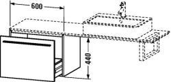 Duravit X-Large mosdó szekrény 60 6534