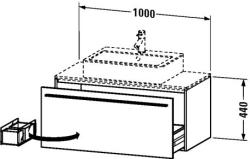 Duravit X-Large mosdó szekrény 100 6502