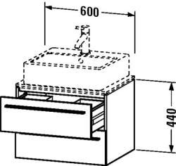 Duravit X-Large mosdó szekrény 60 6510