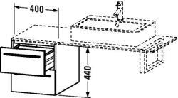 Duravit X-Large mosdó szekrény 40 6722